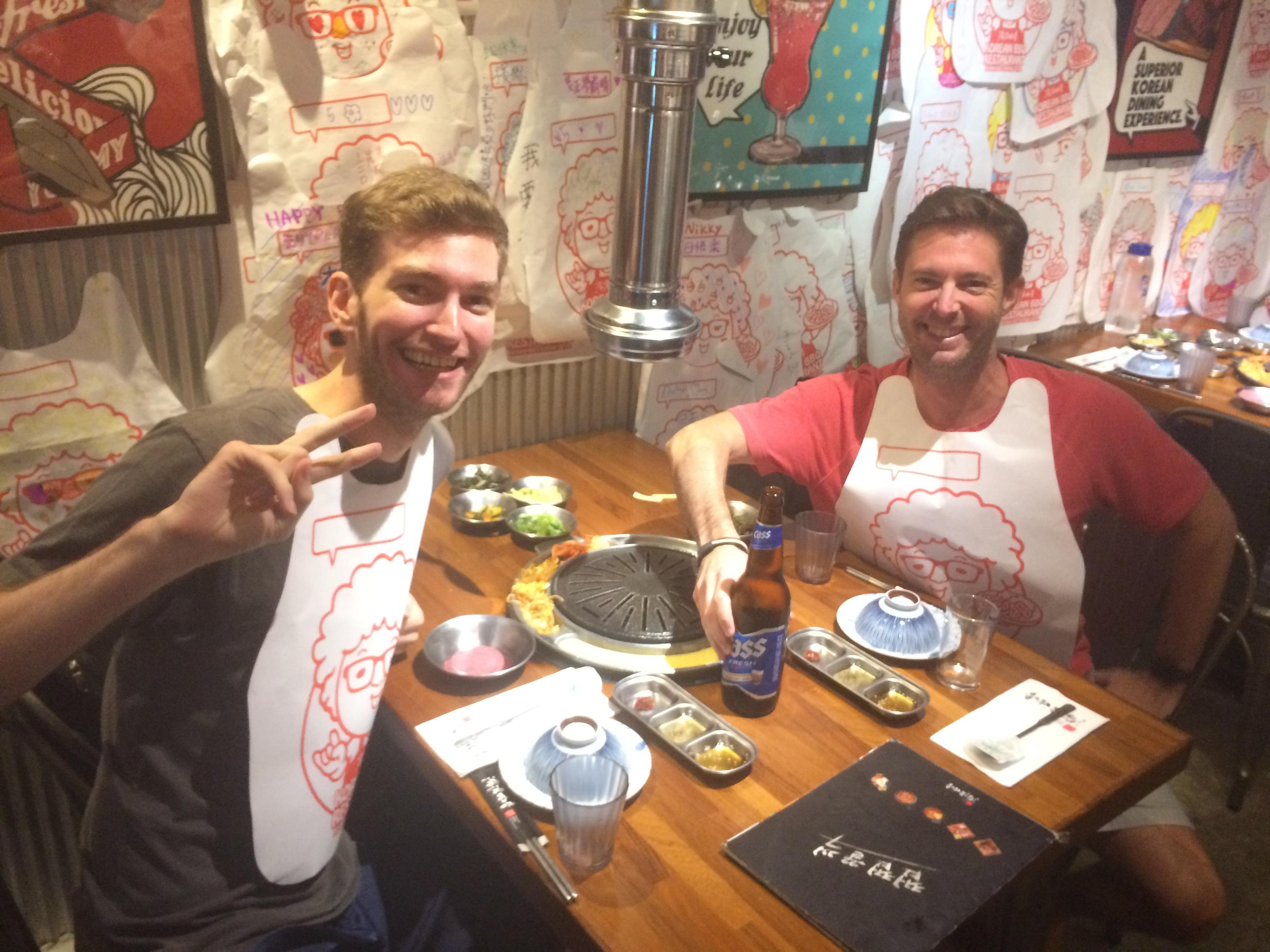 Elliott Killian in a Restaurant in Taipei, Taiwan.