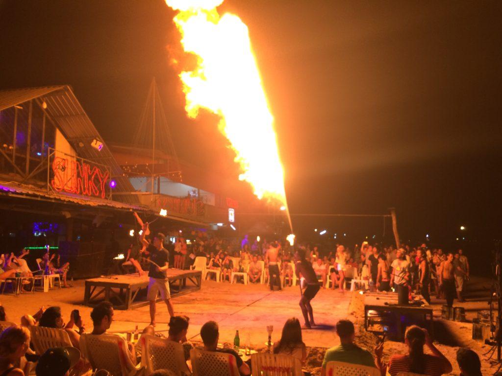 Fire Breathing on Koh Phi Phi island