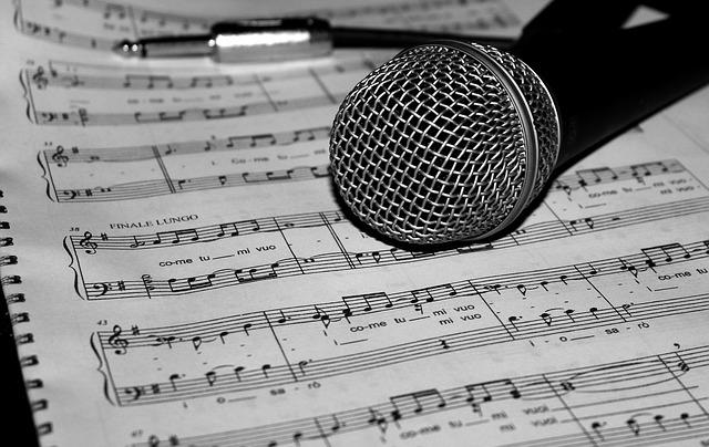 song lyrics music, microphone