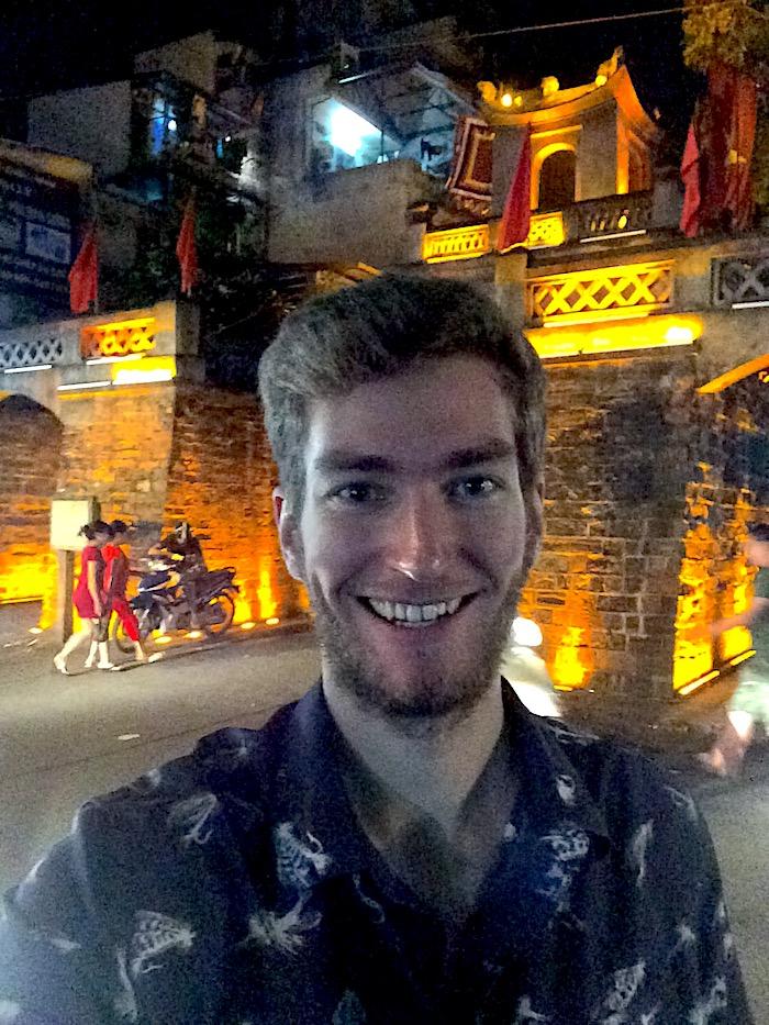 Elliott Killian in Hanoi Vietnam
