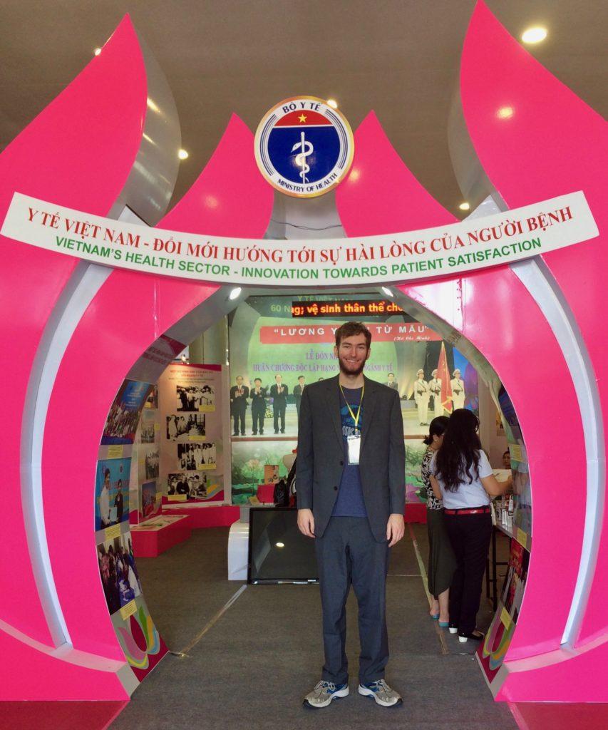 Elliott Killian at a pharma Med conference in Vietnam